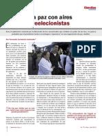La paz con aires reeleccionistas, revista Ciendias75