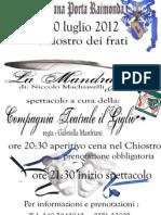 La Mandragola Fucecchio 2012