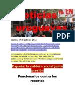 Noticias Uruguayas Martes 17 de Julio Del 2012