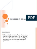 Canceleria de Aluminio