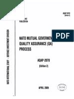 AQAP 2070 - 2007 NATO Mutual Government Quality Assurance Proces