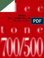 EL700 Electone Manual