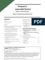 Progress in Responsible Tourism
