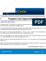Tangent Line Approximation