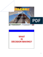 Module 5 - Decision Making - mba crash course