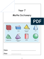 Year 7 Maths Dictionary