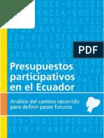 Presupuestos Participativos Ecuador - UN HABITAT 2009 Sauliere
