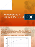 Fundamentals of dB,Watt,dBm and dBi