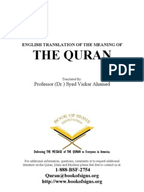 The Holy Quran Translation by Vickar Ahamed | Prophets And