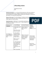 Sample Process Recording Column