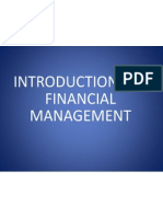 INTRODUCTION to Financial Management.