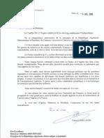 Lettre PR Bouteflika