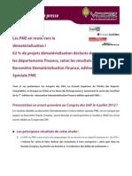 Les résultats de l'enquête sur la Dématérialisation en PME sont disponibles