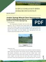 Analisis Tipologi Wilayah Segorogunung, Karanganyar