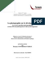 La photographie sur le déveleoppement- Mémoire Master II