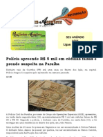 Polícia apreende R$ 5 mil em cédulas falsas e prende suspeita na Paraíba