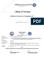 Syllabus in Nursing Care Management 107