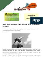 Mais uma criança é vítima de bala perdida na Paraíba
