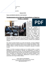 Boletín 051_ Fortalecimiento de la Atención Humanitaria en Salud en Toribio y Jambaló