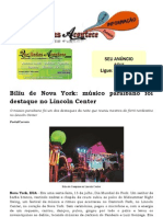 Biliu de Nova York músico paraibano foi destaque no Lincoln Center
