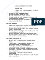 VOCABULÁRIO DE TAEKWONDO