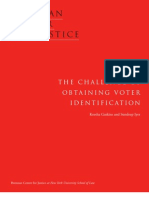 The Challenge of Obtaining Voter Identification