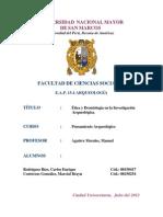 ÉTICA Y DEONTOLOGÍA EN LA INVESTIGACIÓN ARQUEOLÓGICA - TRABAJO FINAL PENSAMIENTO ARQL