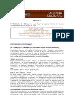 Agenda Cultural Museos Julio 2012