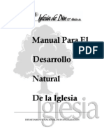 Manual Desarrollo Natural de La Iglesia
