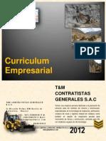 Curriculum t&m Contratistas Generales