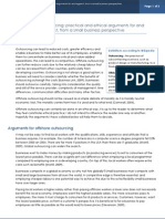 Offshore Outsourcing Practical and Ethical Arguments