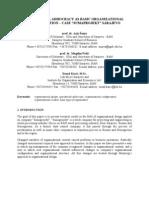 Operational Adhocracy as Basic Organizational Configuration - Case Sumaprojekt Sarajevo