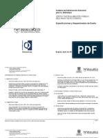 especificaciones de diseño BPJMSD