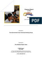 eSkwela Progress Report - eGov Fund 2006&07 - October 2008 - Shortened