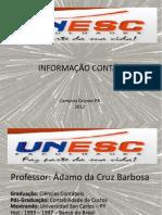 Palestra Informação Contábil - Prof.Ádamo Cruz