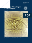 FED Monetary Policy Report to the Congress