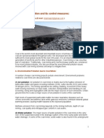 Coal Mining Pollution and Its Control Measures