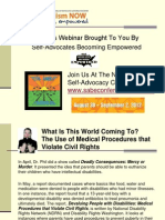 Self Advocates Becoming Empowered Webinar with Autism NOW July 10, 2012