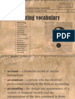 Accounting Vocabulary