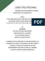 Consumer Behaviour; Influencing Factors on Consumer Choice of Multiple Sim Phones