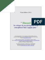 """Victor Delbos (1911), """" Husserl. Sa critique du psychologisme et sa conception… """""""