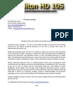Press Release Hamilton HD 105 071712