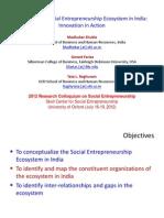 Growing Ecosystem of Social Entrepreneurship in India