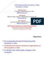 Growing Ecosystem of Social Entrepreneurship in India