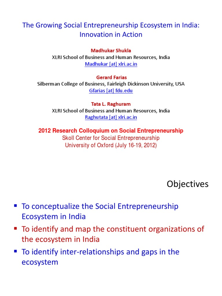 Growing Ecosystem of Social Entrepreneurship in India   Tech
