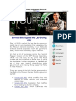 This Week's Stouffer Report - Several Bills Signed Into Law During July