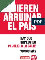 Manifiesto #19J #QuierenArruinarElPaís