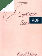 Rudolf Steiner - Goethean Science
