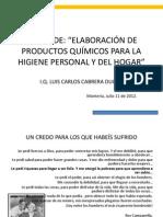 ELABORACIÓN DE PRODUCTOS DE ASEO