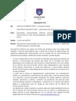Circular No. 012_disposiciones de Comunicaciones